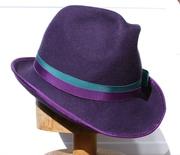 Fedora, Trilby, Royal Purple, Women Hat, Millinery, Felt
