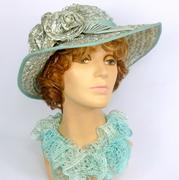 Sea Foam Lucite Green Straw Sun Hat