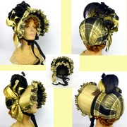 Repoduction of 1800s Formal Bonnet - Entry 3 in MOE contest- Hats for the Silver Screen