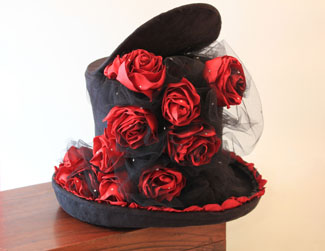 Rose Covered Top Hat