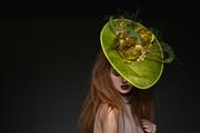 Green Sinamay Fascinator