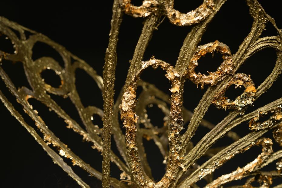 Close Up: 18k Gold Garden Butterfly