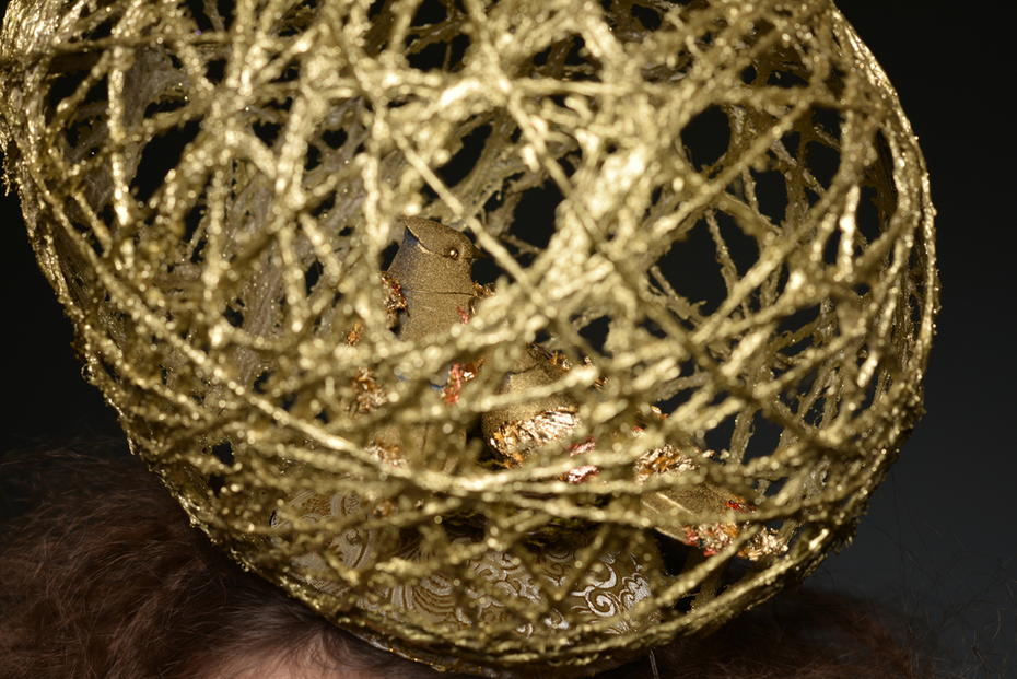Close Up: Ostara 18k gold Nest Egg