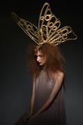 Studio shot: 18k Gold Garden Butterfly