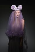 Raw Crystal Flower Crown w/ Veil