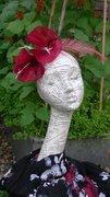 'MARI' - red-wine silk abaca.