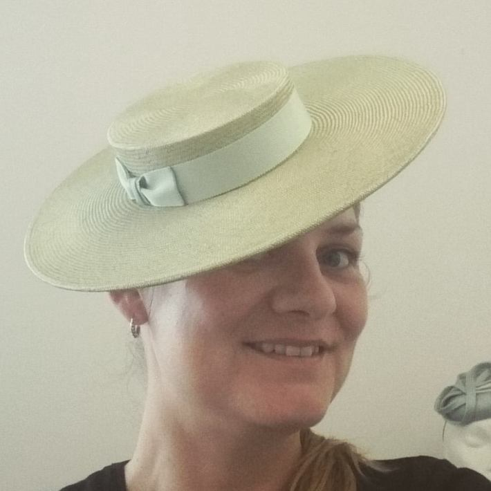 Sampling- Me- Green Straw Sailor Hat