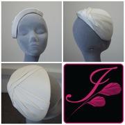 Silk Jersey Pleated Half Hat