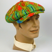 Newsboy Style Cap Hat-1920s 1930s Style-Vintage Avante Garde Wool Fabric