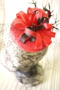 Red Sinamay Hat