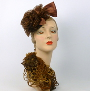 Brown and Bronze Fascinator Hat