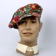 Newsboy style cap make with vintage Stehli Silk