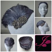 Silk and Feather Half Hat