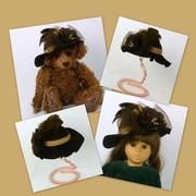 Doll or Teddy Bear Brown Felt Hat