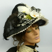 Victorian Reproduction Straw Picture Hat