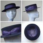 Suede Finish Felt Brimmed Hat