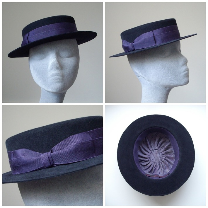 Suede Finish Felt Brimmed Hat