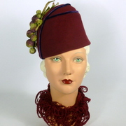 Reproduction 1930s Fez Style Hat