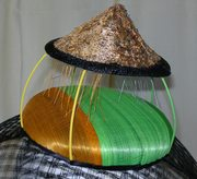 VIETNAMESE RICE COOLIE HAT - top detail