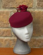 'RUBY' - fur felt oval pillbox