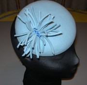'CUTIE-PIE' - a pale blue fur felt button hat