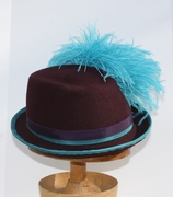 Riding Hat with Turquoise Pom