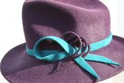 Purple Fedora, trilby, women  Hat