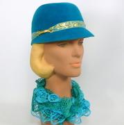 Cornflower Blue Felt Cap Hat