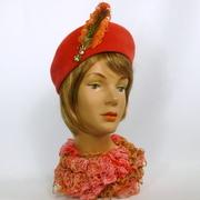 Deep Coral Beret Hat