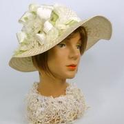 White Straw Picture Sun Hat