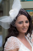 Doll's Mad Hattery Dove Birdcage Veil.