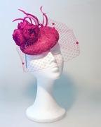 Total Pink Fascinator Anastasia Frei SS16