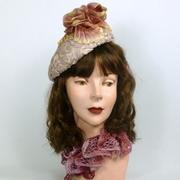 Light Lavender Woven Straw Tam Fascinator Hat