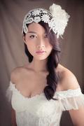 20s inspired bridal cap