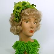 Lime Green Fascinator Hat