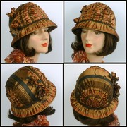 All Silk Reproduction Cloche Hat