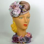 Lavender Straw Fascinator Hat