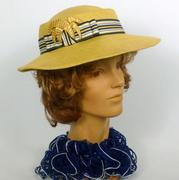 Yellow Panama Straw Boater Style Hat