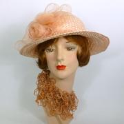 Light Pink Straw & Crin Hat