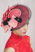 Coral saucer hat