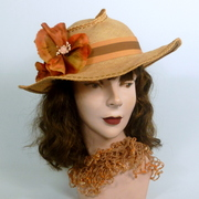 Woven Linen Straw Picture Sun Hat