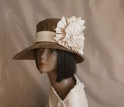 bronze fabric covered chapeau