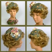 Blue, Pink, Green, Yellow Fascinator Hat