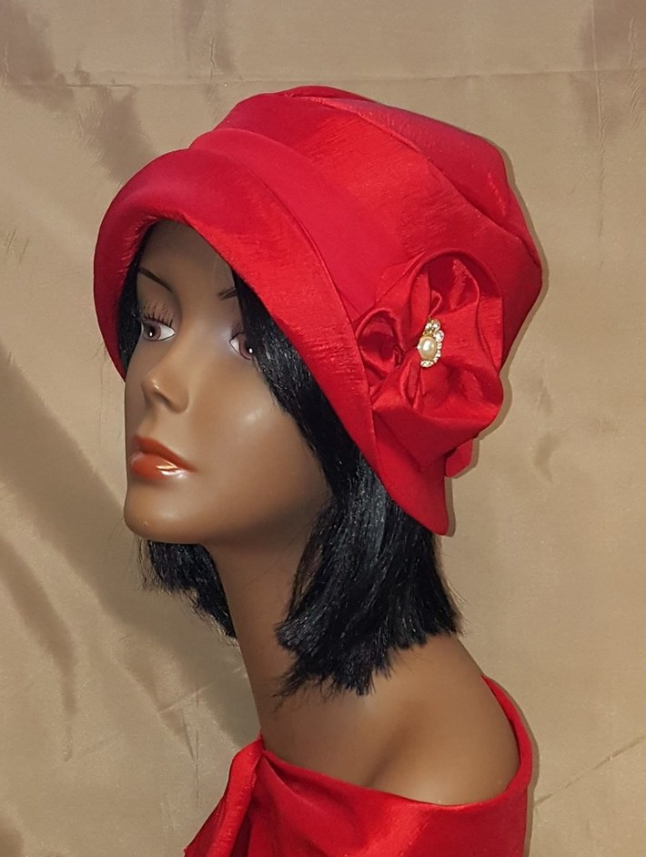 1920's inspired Red Cloche