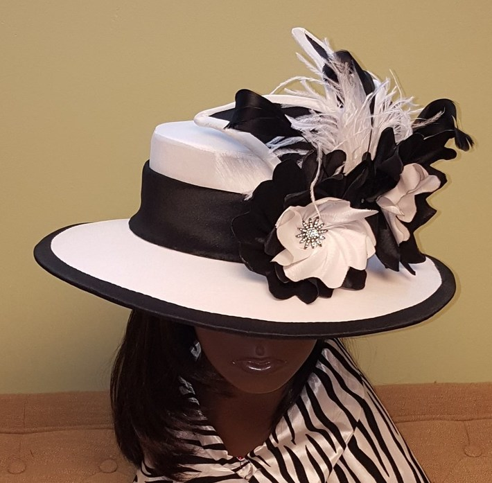 Black and White Fabric Covered