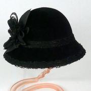 black doll hat