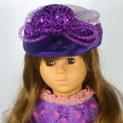 Doll or Teddy Bear 2 Tone Jockey Cap Hat