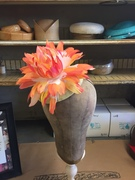 Water Colored Inspired Feather Flower Headpiece.