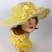 Yellow Straw Kentucky Derby Hat