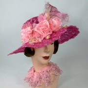 Timeless Straw & Lace Kentucky Derby Hat